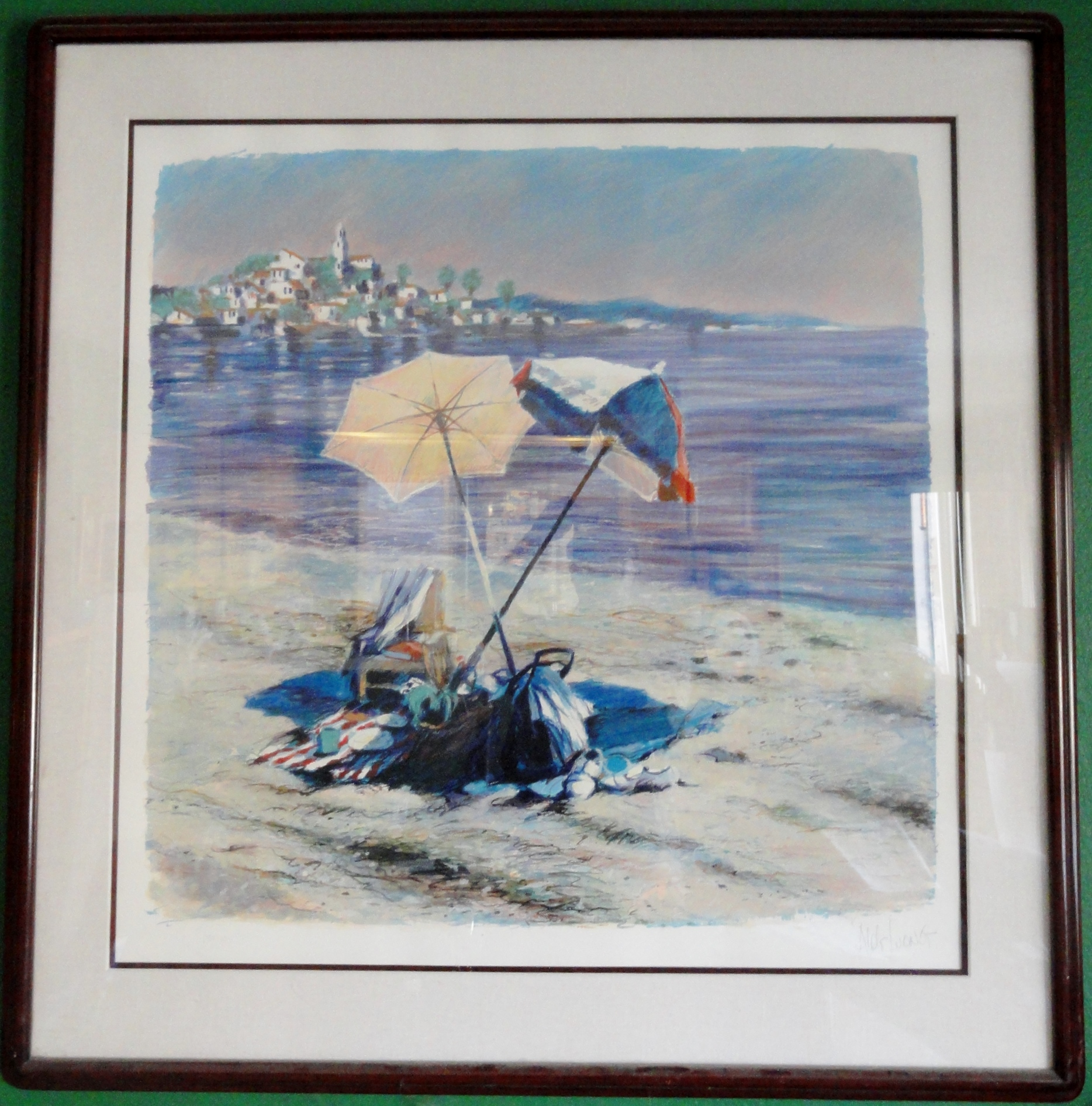 Blue Coast by Aldo Luongo Signed and numbered limited edition serigraph