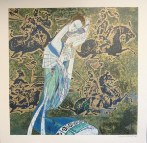 Messenger by Ting Shao Kuang signed and numbered limited edition serigraph