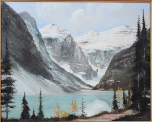 Lake Louise by Frederick Priddat closeup