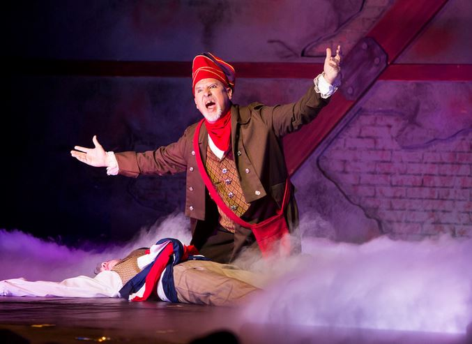 John George Campbell as Thenardier in Les Miserables Here among the sewer rats