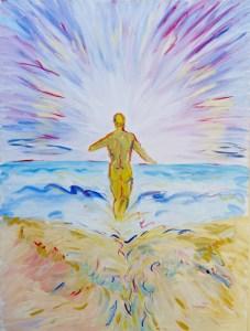 "Infinite Continuum Painting Original 48"" x 36"" Acryllic on Canvas painting"
