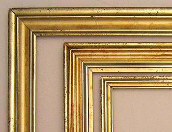 Victorian Mirror Frame Antique Gold Framed Large Gilt Leaf Rococo Picture Frameless Beveled