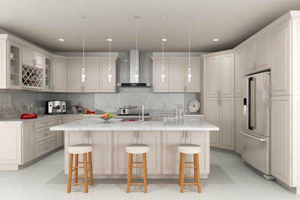 Neutral Taupe color kitchen