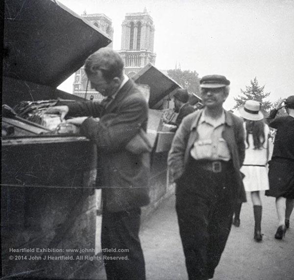 Rare John Heartfield photo in Paris, 1935