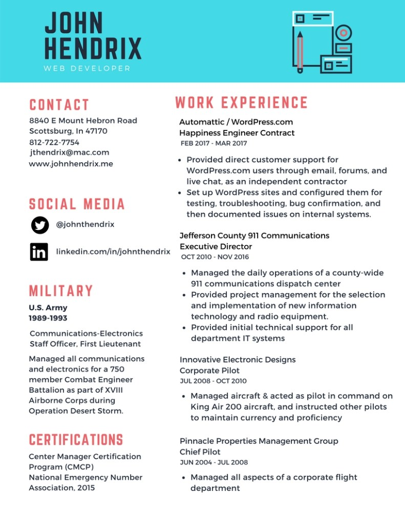 resume document