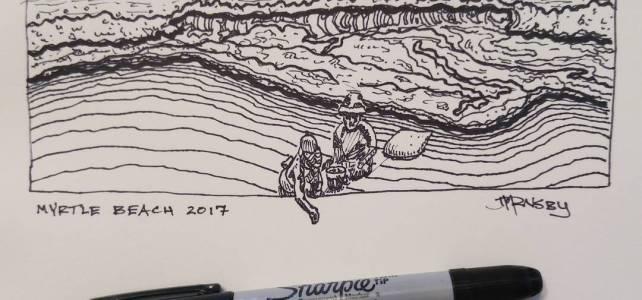 Last beach sketch before we hit the road