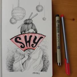 "Inktober day 7 ""Shy"
