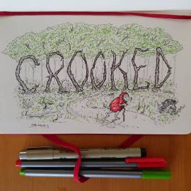 """Inktober day 8 """"Crooked"""