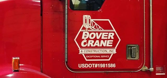 Dover Crane & Construction Logo getting phased into fleet