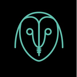 digital illustration of an owlwith a mascara wand in a single line style