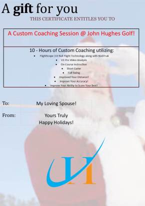 Holiday Gift Ideas December Update JohnHughesGolf.com Best Orlando Golf Lessons Best Orlando Golf Schools Beginner Golf Lessons