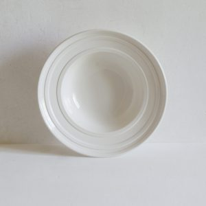 Classical Deep Soup Bowl with Impressed Line