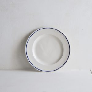 Classical Porcelain Side Plate with Blue Line