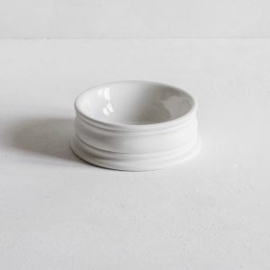 Large porcelain pinch pot