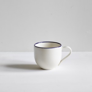 Simple Mug Cobalt Blue Rim
