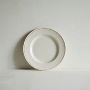Luxury porcelain side plate with hand painted coral line