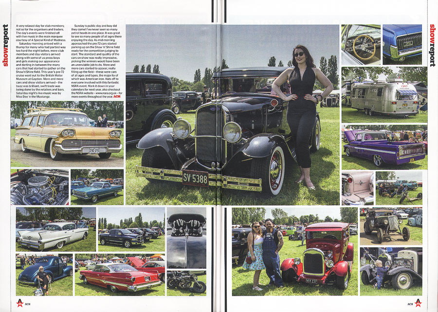 American Car Magazine - Cover Spetember 2016 - Editorial pieces 44th NSRA Fun Run - spread page 1 and 2