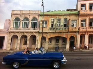 havana malecon blue convertible