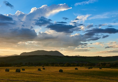 sleeping giant sunset hay