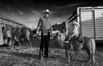 Rodeo Dad and Daughter