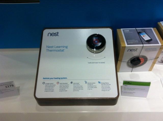 Nest thermostat demo unit