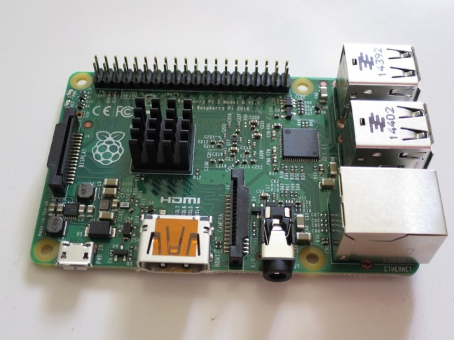 Top view of Raspberry Pi 2