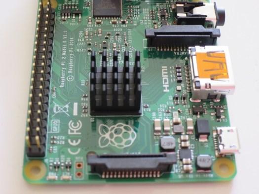 Raspberry Pi 2 Heatsink & GPIO