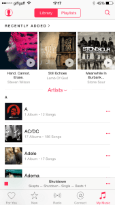 My own music collection in iTunes Match