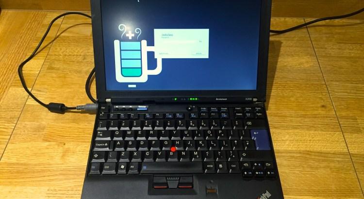 Ubuntu Login Screen on X200