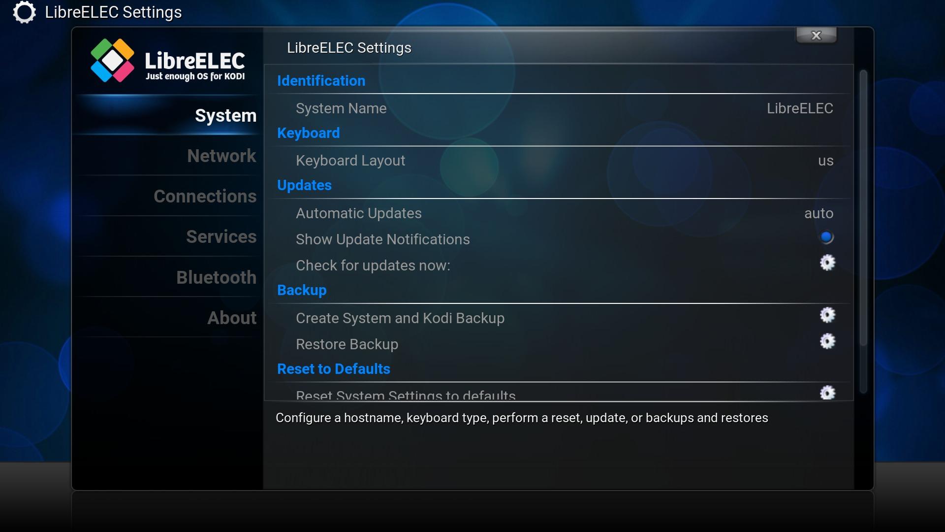 Configuring LibreELEC