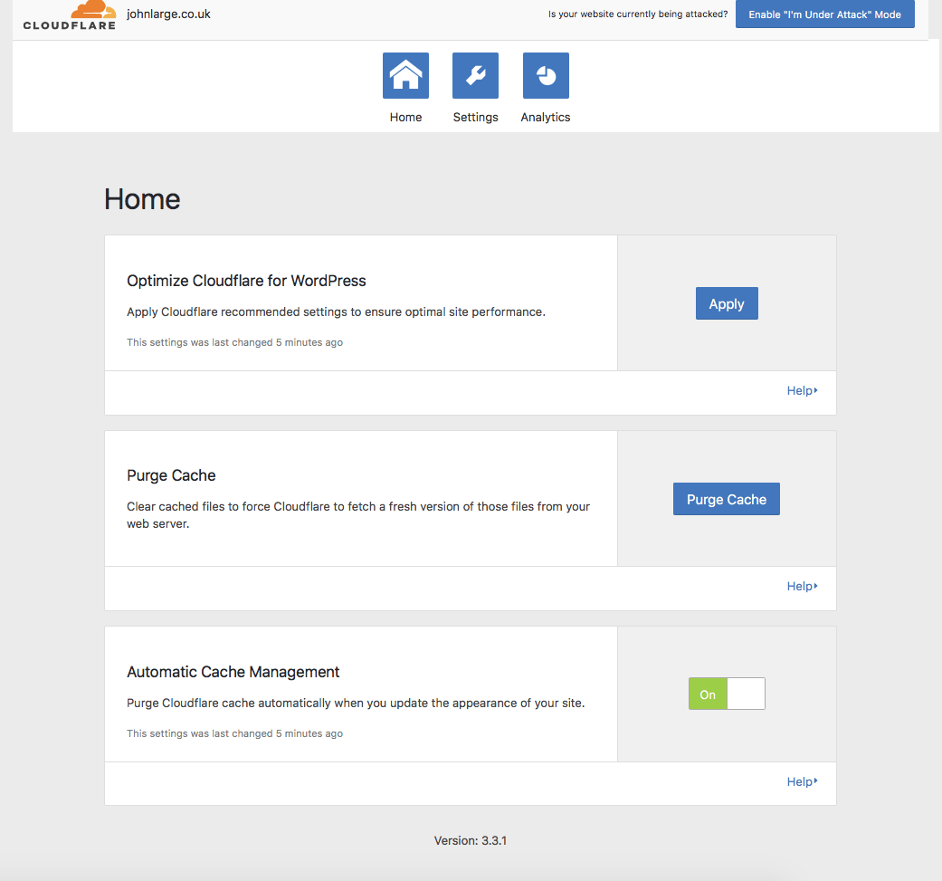 Wordpress Cloudflare 3.0.3 plugin blank settings page - fixed