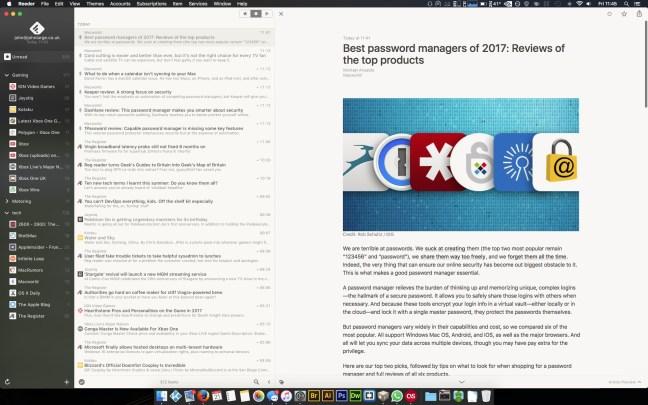 Reeder for Mac OS - RSS Reader