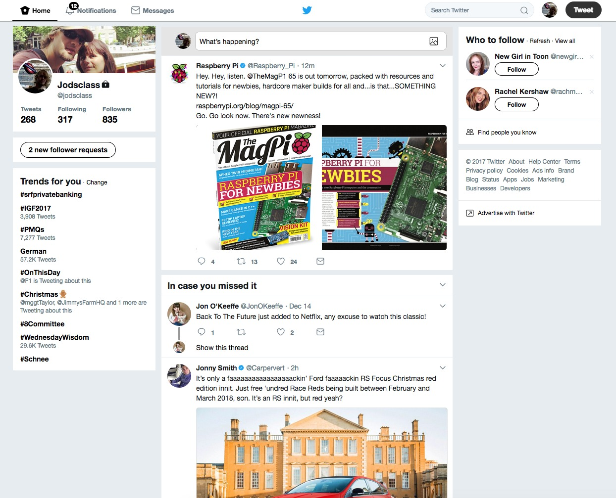 Twitter For Web - Full of noise
