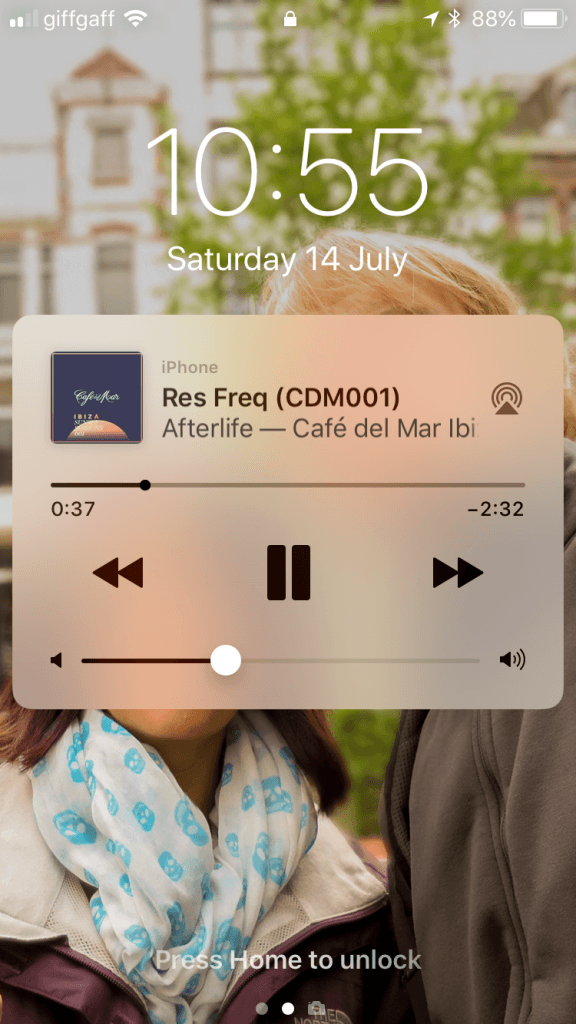 Sonos lock screen controls Fixed on ios