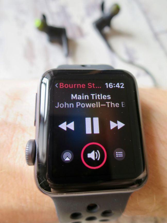 Soundpeats Q12 Headphones with apple watch