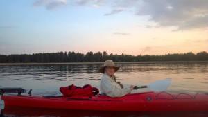 Karol on Lake Superior. Photo by Jessica