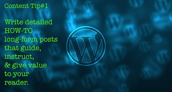 In this image an image of a wordpress logo becuase many bloggers use Content Type Tip #1 the how to content type on wordpress blogs.