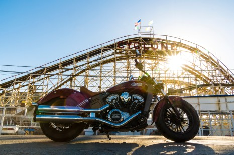 2015 Indian Scout at the Coney Island Cyclone