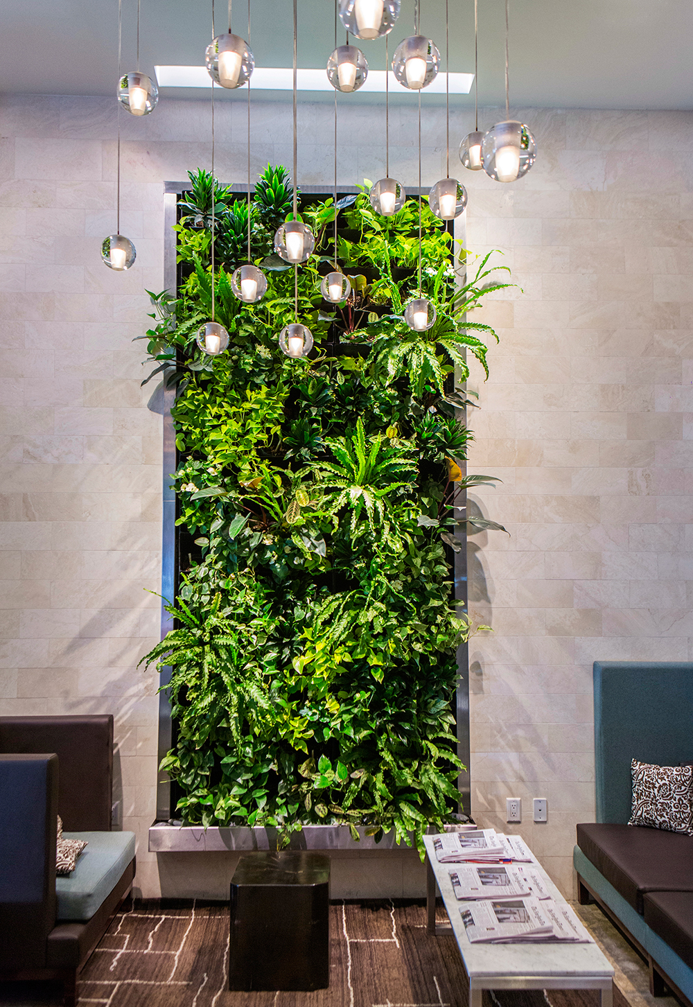 Hotel Lobby Living Wall Landscaping Green Textures In