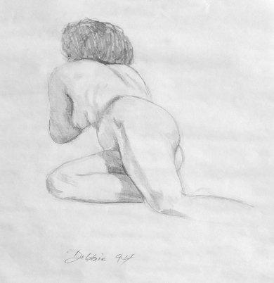 1994. Life Drawing Debbie