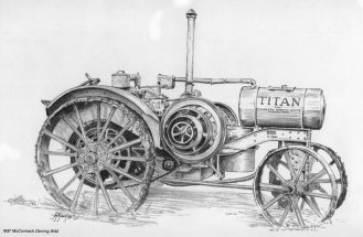 1989. Pencil Drawing TitanTractor
