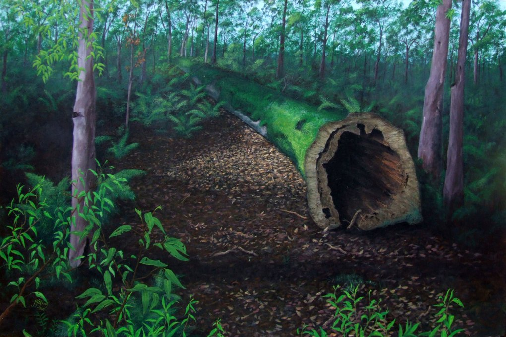 Fallen Tree Artwork Painting