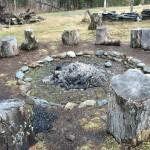 Stone circle at the Mad River Barn