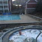 Hot tubbing at Clay Brook