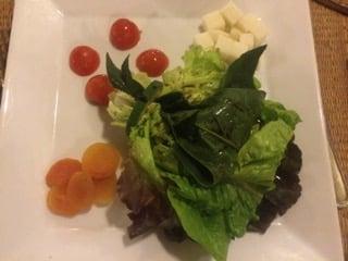 A delicious salad at La Estrancia