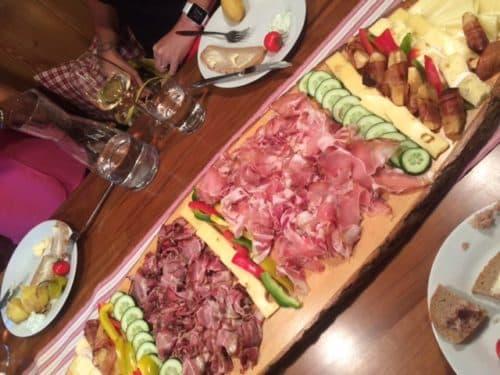 Family dinner before the schnapps tasting