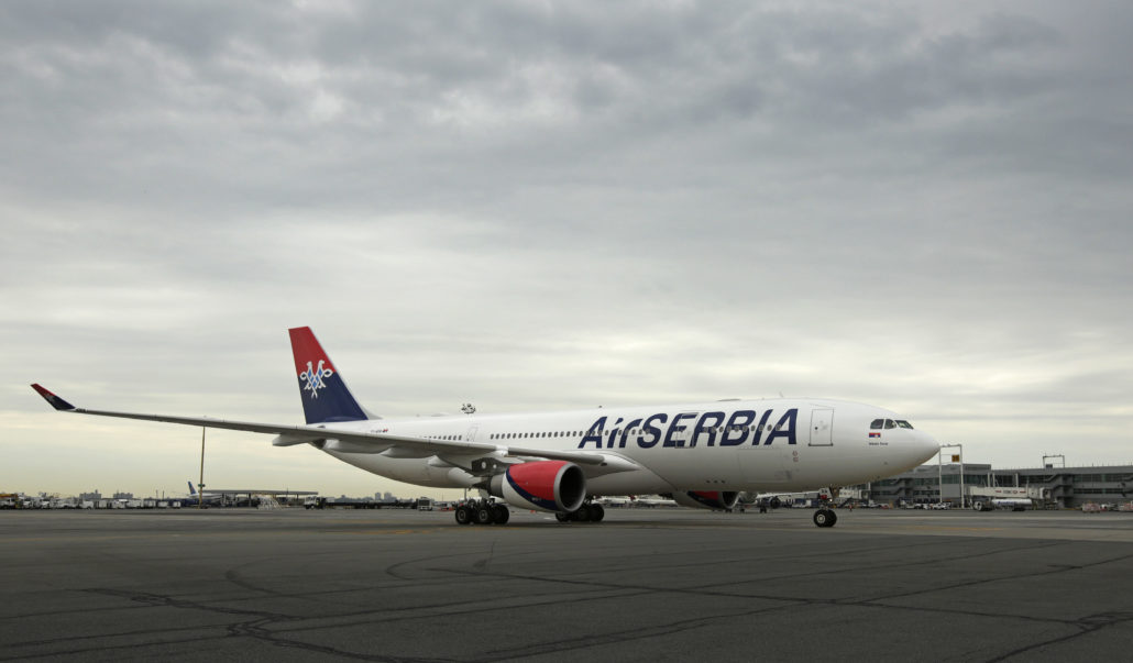 Air Serbia now flies direct to Belgrade from JFK 5x/week (Credit: Adam Hunger/AP Images for Air Serbia)