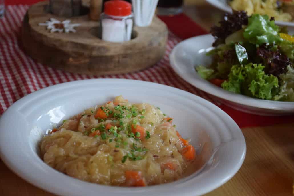Sauerkraut at the mountain hut