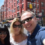 Hanging in Little Italy with my wife and sister