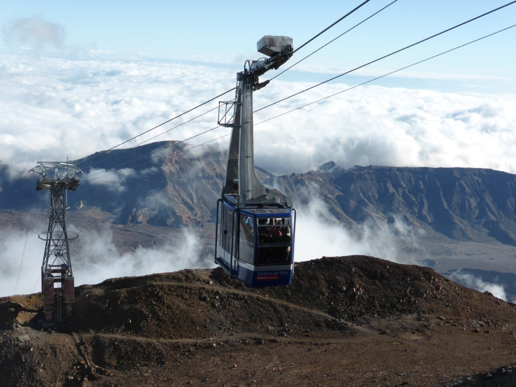 This cable car ride takes you to the highest peak in Spain: Tenerife's Mount Teide